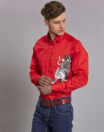 Luxury Sport Shirt - Red Tiger