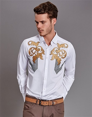 White Casual Shirt- Men White Casual Luxury Shirt
