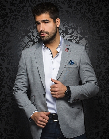 Luxury Sport Coat | Grey Blazer