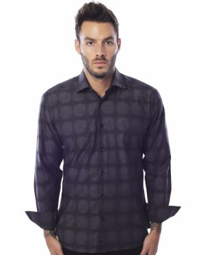 Designer Charcoal Dress Shirt