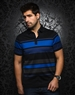 Blue Black Stripe Polo