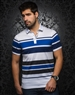 White Blue Stripe Polo