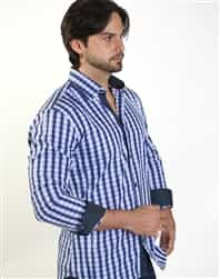 Stripe Casual Shirt: men navy Casual stripe shirt