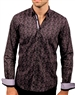 Black Pink Paisley Shirt