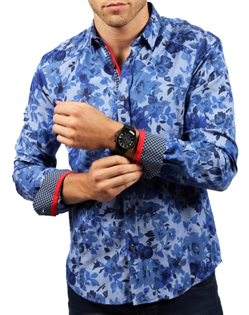 Blue Navy Floral Shirt