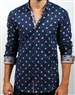 Navy Dot Dress Shirt