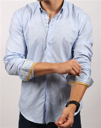 Casual Blue Dress Shirt