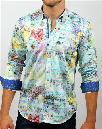 Luxury White Floral Shirt
