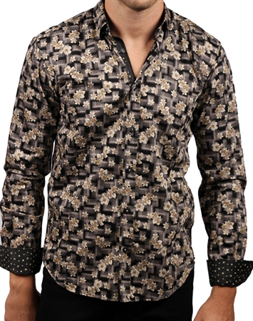 Luxury Black Floral Shirt