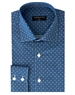 Luxury Sport Shirt - Blue Dot And Floral Print Woven