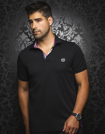Luxury Short Sleeve Polo - Black