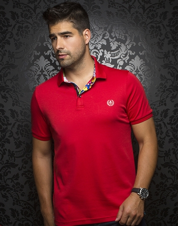 Men's Designer Polo - Red