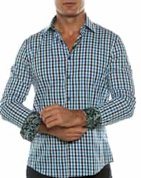 Blue Check Fashion Shirt