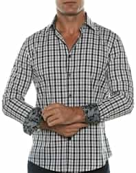 Gray Check Fashion Shirt