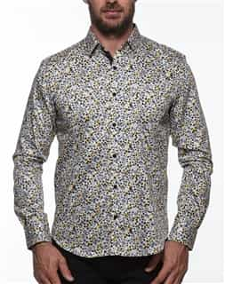 Trendy Dress Shirt - Yellow Floral