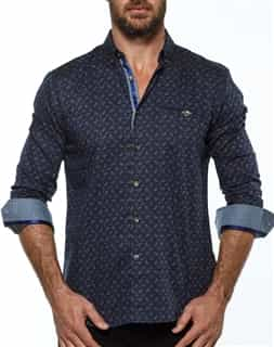 European Fashion Shirt - Navy