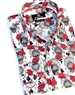 Luxury White Skull Print Dress Shirt