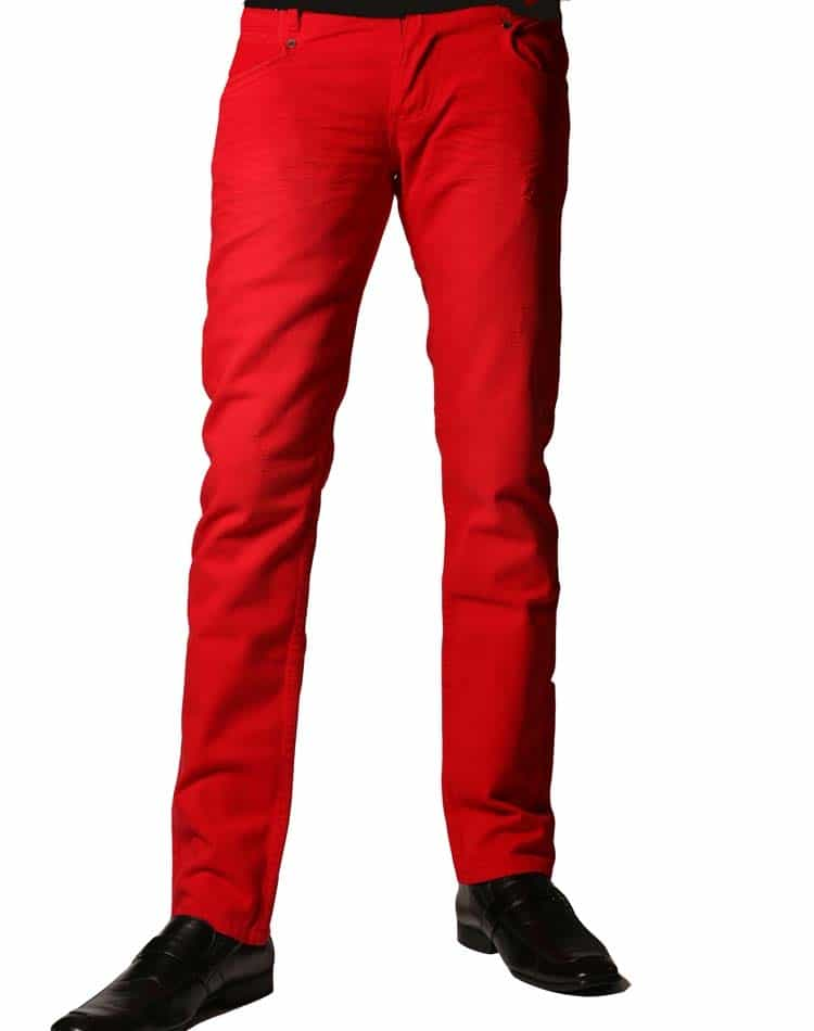 Jeans- Isaac B Jeans 062 Red