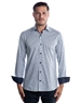 Luxury Dress Shirt - Navy Water-Color Floral Woven