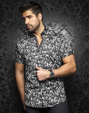 Au Noir Shirt Ixtapa-ss-black-white