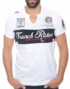 Geographical Norway Frech Rivera T-Shirt White