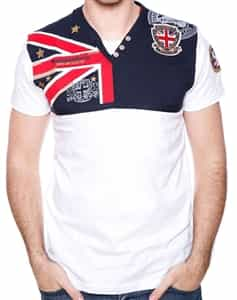 Geographical Norway T-Shirt UK Legend White