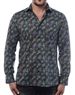 Men's Luxury Sport Shirt - Trendy Multi Colored Peacock Print Shirt