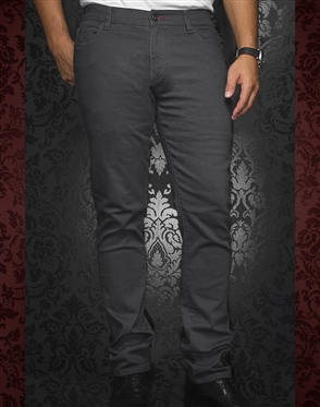 Designer Gray Slim Jeans | Johnny C Med Grey