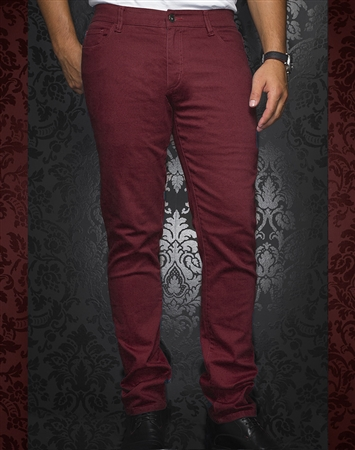 Designer Wine Slim Jeans | Johnny C Wine