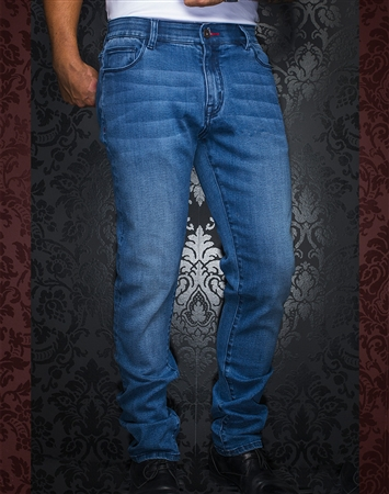 Men's Designer Light Blue Jeans