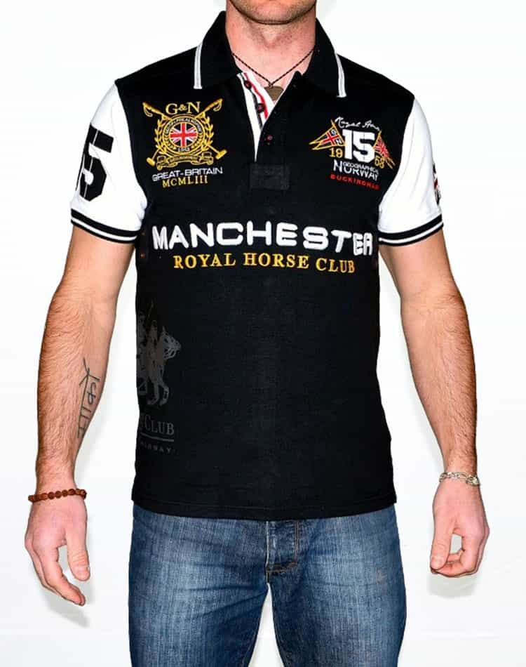 6a75ed7c Stylish Polo Shirt - Geographical Norway | Black White - Manchester