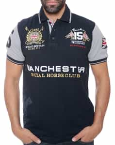 Geographical Norway Manchester Polo Navy