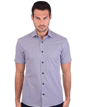 Checkered Multi Colored Short Sleeve Shirt