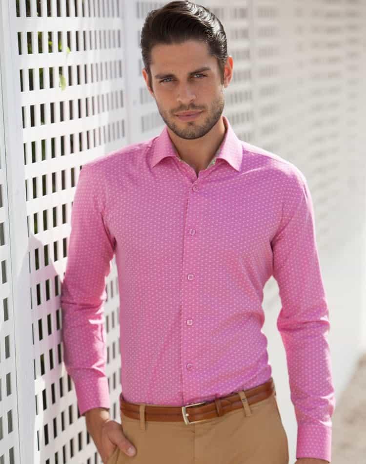 Stylish Shirt Pink Shirt For Men Bertigo Kyle 52