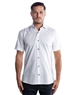 Luxury Short Sleeve Woven - White Dress Shirt