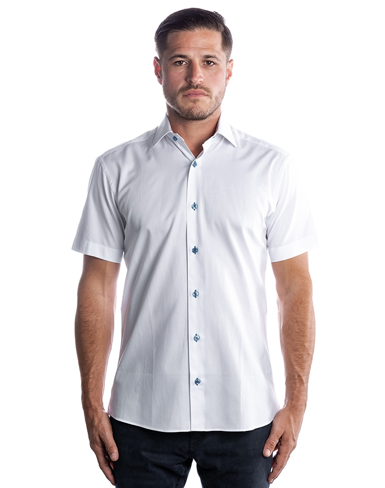 dc29c487f0e Luxury Short Sleeve Woven - White Dress Shirt