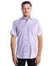 Luxury Short Sleeve Woven - Purple Dress Shirt