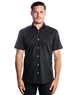 Luxury Short Sleeve Woven - Black Dress Shirt