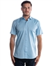 Luxury Short Sleeve Woven - Turquoise Dress Shirt