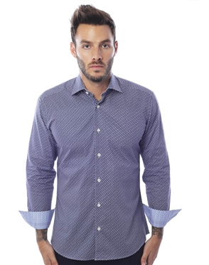 Luxury Navy Dress Shirt