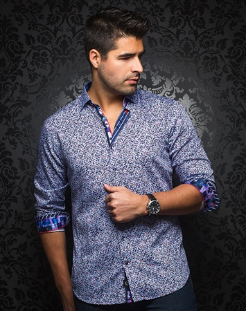 Designer Dress Shirt: Lowell Multi