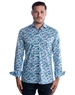 Luxury Dress Shirt - Creative Leaf Print Dress Shirt