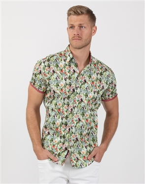 Lush Green Men's Luxury Shirt