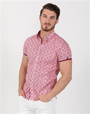 Bold Men's Floral Dress Shirt