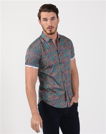Handsome Men's Multi Colored Luxury Shirt