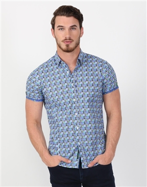 Chic Men's Multi Designer Dress Shirt