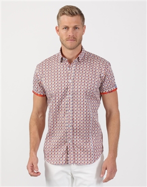 Deluxe Men's Multi Colored Designer Shirt