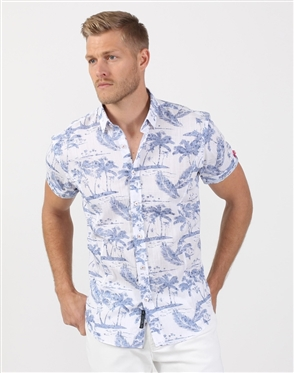 Island Dream Men's Indigo Luxury Shirt