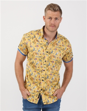 Mellow Yellow Men's Designer Dress Shirt