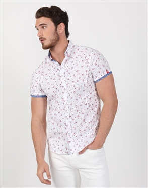 White Multi Luxury Men's Shirt